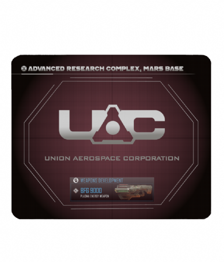 UAC Advance Research Complex Inspired by Doom - PC Laptop Mouse Mat